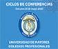 Ciclo de conferencias gratuitas organizado por la Universidad de Mayores de los Colegios Profesionales de Madrid