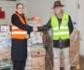 Colvema entrega los cerca de 1.300 kg de alimentos recogidos en colaboración con el Banco de Alimentos, para que sean distribuidos entre las familias en situación de exclusión social