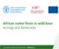 Manual sobre ecologia y bioseguridad en relación con la peste porcina africana en jabalíes, editado por la FAO, la OIE y la CE